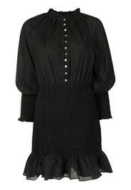 Keepsake The Label ruffled-trim fitted dress - Nero