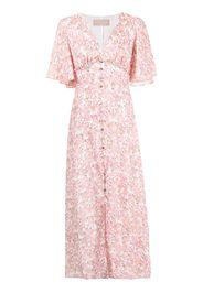 Keepsake The Label Blaze floral-print midi dress - Rosa