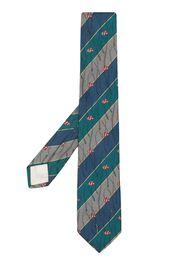 Kenzo Pre-Owned Cravatta con stampa - Blu
