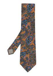 Kenzo Pre-Owned Cravatta con stampa paisley - Marrone