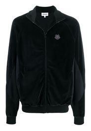 logo-patch long-sleeve jacket