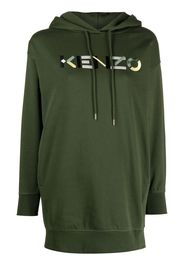 Kenzo Vestito modello felpa con ricamo - Verde