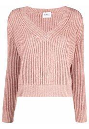 KNIIT MILANO v-neck long-sleeve jumper - Rosa