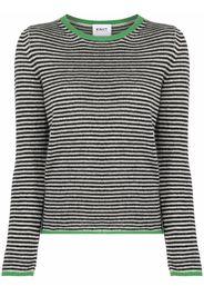 KNIIT MILANO striped cashmere jumper - Nero