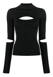 ribbed-knit cut-out jumper