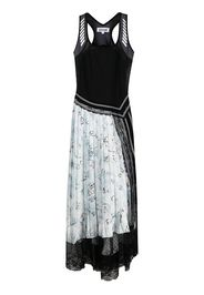 Koché Vestito patchwork a pieghe - Nero