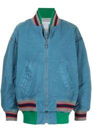 striped rib bomber jacket