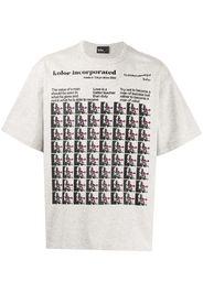 Kolor T-shirt Albert Einstein con stampa - Bianco