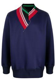 Kolor contrasting-collar jumper - Blu