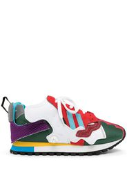 Kolor leather patchwork trainers - Multicolore
