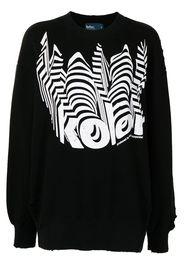 Kolor logo-print sweatshirt - Nero