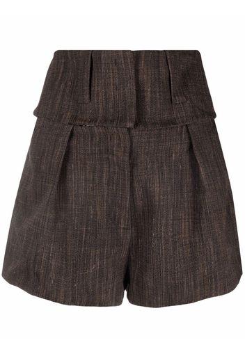 Krizia Shorts con chiusura nascosta - Marrone