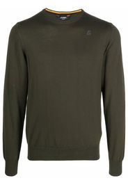 KWAY embroidered logo long-sleeved jumper - Verde