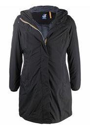KWAY zip-up hooded jacket - Nero