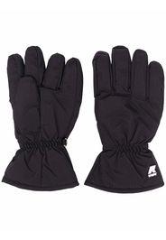 KWAY logo-print full-finger gloves - Nero