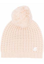 KWAY logo chunky knit beanie - Toni neutri