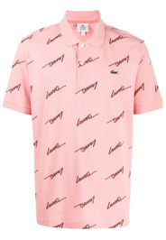 all-over logo polo shirt