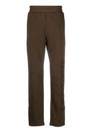 brown straight-leg trousers