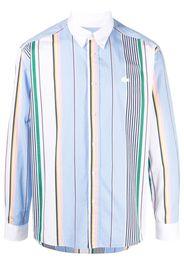 Lacoste Live Camicia a righe con ricamo - Blu