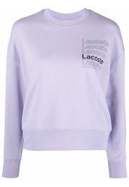 Lacoste Live logo-print crew neck sweatshirt - Viola