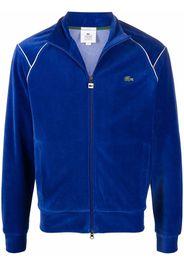 Lacoste Live L!VE zip-up velvet sweatshirt - Blu