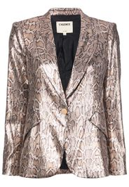 sequin leopard print blazer