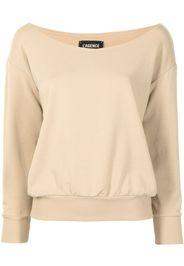 L'Agence Kimora long-sleeved off-shoulder top - Marrone