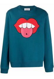 LANVIN mouth patch sweatshirt - Blu