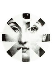 L'Eclaireur Made By Piatto con stampa 'Fornasetti' - Bianco