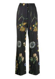 Lela Rose Maggie floral-print trousers - Nero