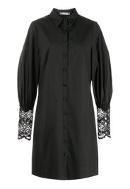 Lela Rose lace-cuff shirt dress - Nero