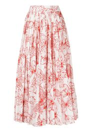 Lela Rose Gonna lunga con stampa - Rosso