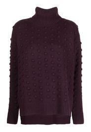 Lela Rose roll-neck wool-blend jumper - Viola