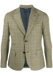 plaid tailored blazer