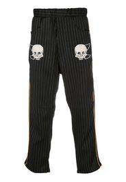 embroidered skull trousers
