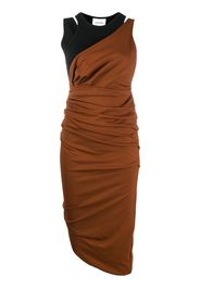 ruched fitted evening dress