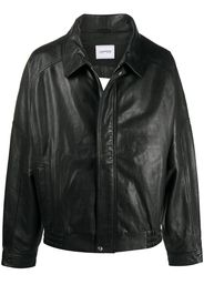 oversized cut-out leather jacket