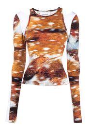 Lourdes Deer Biathlon T-shirt - Marrone
