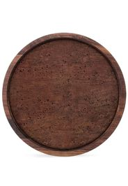 City walnut small serving tray