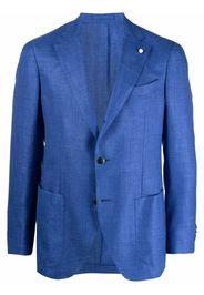 LUIGI BIANCHI MANTOVA single-breasted blazer - Blu