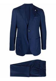 LUIGI BIANCHI MANTOVA notched-lapels two-piece single-breasted suit - Blu
