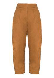high waist wide leg cargo trousers