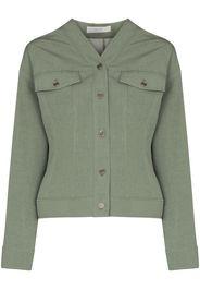 LVIR V-neck cropped jacket - Verde