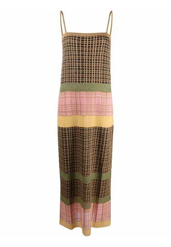M Missoni colour-block knitted dress - Oro