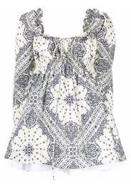 Maison Bohemique bandana-print mini dress - Toni neutri