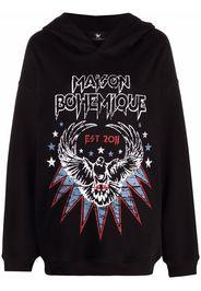 Maison Bohemique logo-print hoodie - Nero