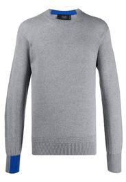 fine knit colour block jumper