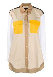 Camicia oversize con design color-block