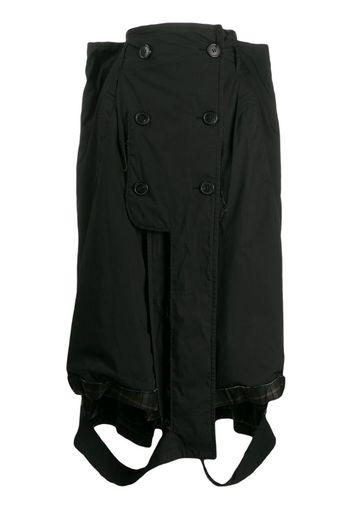 deconstructed long skirt