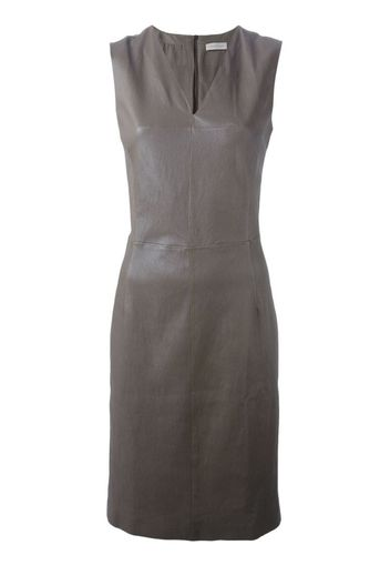 fitted lambskin dress